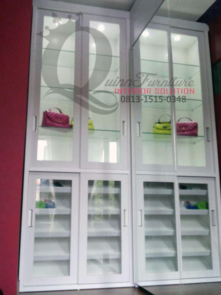 Lemari Sliding Minimalis Kota Wisata - Workshop Furniture