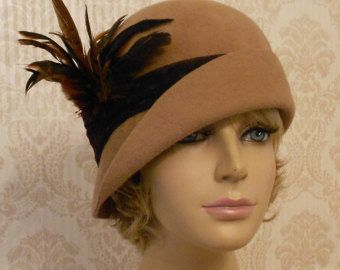 Amelia Fur Felt Cloche millinery hat from the by LuminataCo