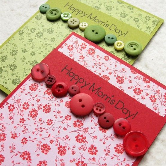 You could do this for anything! Love the buttons.Scrapbook Cards, Crafts Ideas, Cards Ideas, Buttons Crafts, Cute Ideas, Buttons Art, Greeting Cards, Mothers Day Cards, Buttons Cards