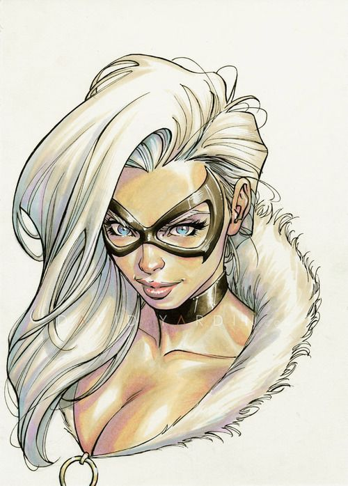 Black Cat - Oz Comic Con Adelaide (mostly) Mepxy Marker sketch,...