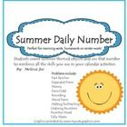 Summer Daily Number Perfect for morning work, homework or center work! Students count summer themed objects and use that number to reinforce all th...
