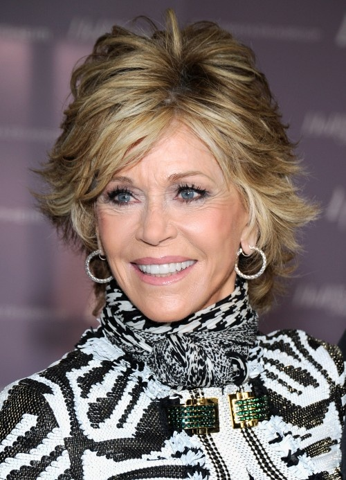Like your short hair with some volume? Then go with a layered short shag like Jane Fonda's flippy haircut.More Hairstyles Over 40:Gallery: Short Hairstyles Over 405 Best Blondes Over 40Pixie Haircuts for Older WomenFollow me on Twitter!Questions? Email me.