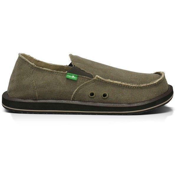 Sanuk Men's Vagabond Shoe ($55) ❤ liked on Polyvore featuring men's fashion, men's shoes, brown, mens shoes, mens brown shoes and sanuk mens shoes