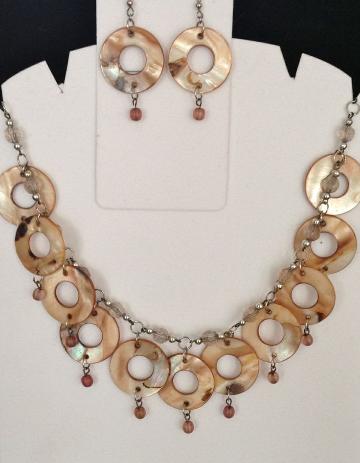 Jewelled Designs - Gold Bone Circles Necklace Set, $60.00 (http://www.jewelleddesigns.com/gold-bone-circles-necklace-set/)