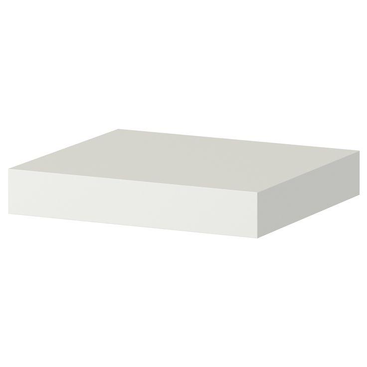 IKEA - LACK, Wandregal, weiß, , Durch verdeckte Beschläge wirkt das Möbelstück wie frei schwebend.