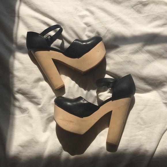 OPENING CEREMONY Chloe Sevigny MaryJane Platforms WORN ONCE! Practically Brand New Chloe Sevigny for OPENING CEREMONY. Super Cute Black Wooden Platforms.  Comfortable Platforms you can wear! Opening Ceremony Shoes Platforms