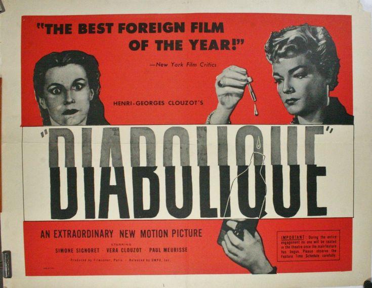 """[1] Par son succès international en 1955, """"Les diaboliques"""" de Henri-Georges Clouzot relance l'intérêt pour le macabre et l'épouvante."""