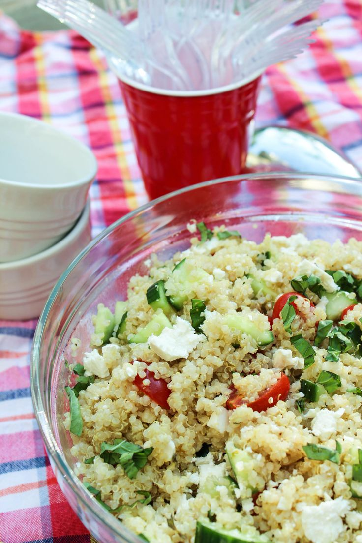 Greek Quinoa Salad with Cucumbers, Tomatoes, and Feta 8 | Bites of Bri