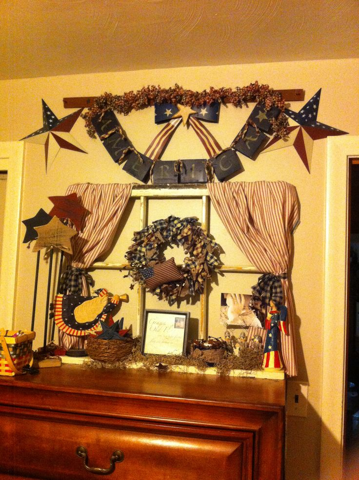 Americana Decor Primitive Crafts I Made Americana