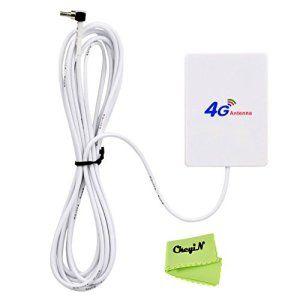 Ckeyin ®Antenne 28dBi 4G 3G 2.4G LTE Interface CRC9 Connecteur Amplificateur de Signal avec 2.9m Câble Pour Huawei E160 E173 E1820 E160e…