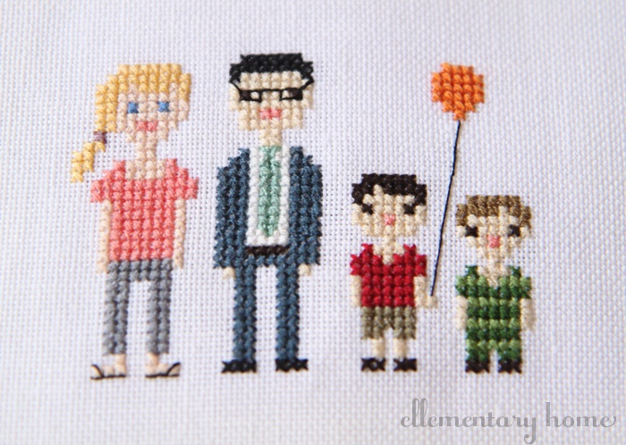 Cross-Stitch Family Portrait