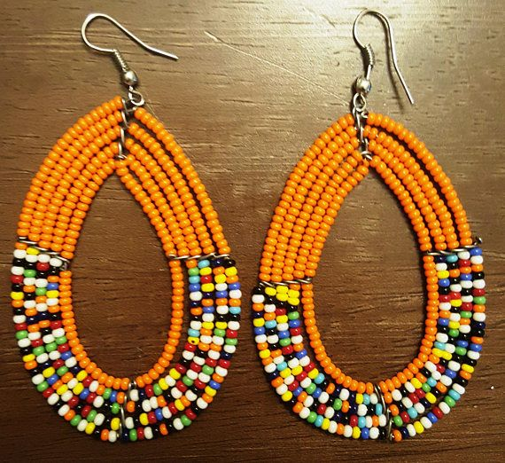 Check out this item in my Etsy shop https://www.etsy.com/listing/504519497/beaded-earrings-african-earrings-tribal