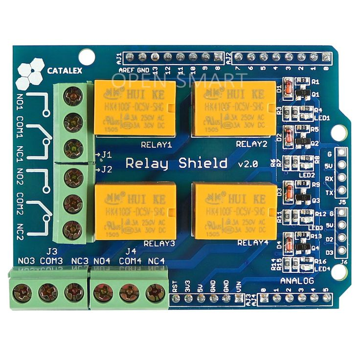 Relay Shield v2.0 Relay Board 5V 4-Channel Relay Module w/ Serial Bluetooth interface for Arduino UNO / MEGA2560 #Affiliate