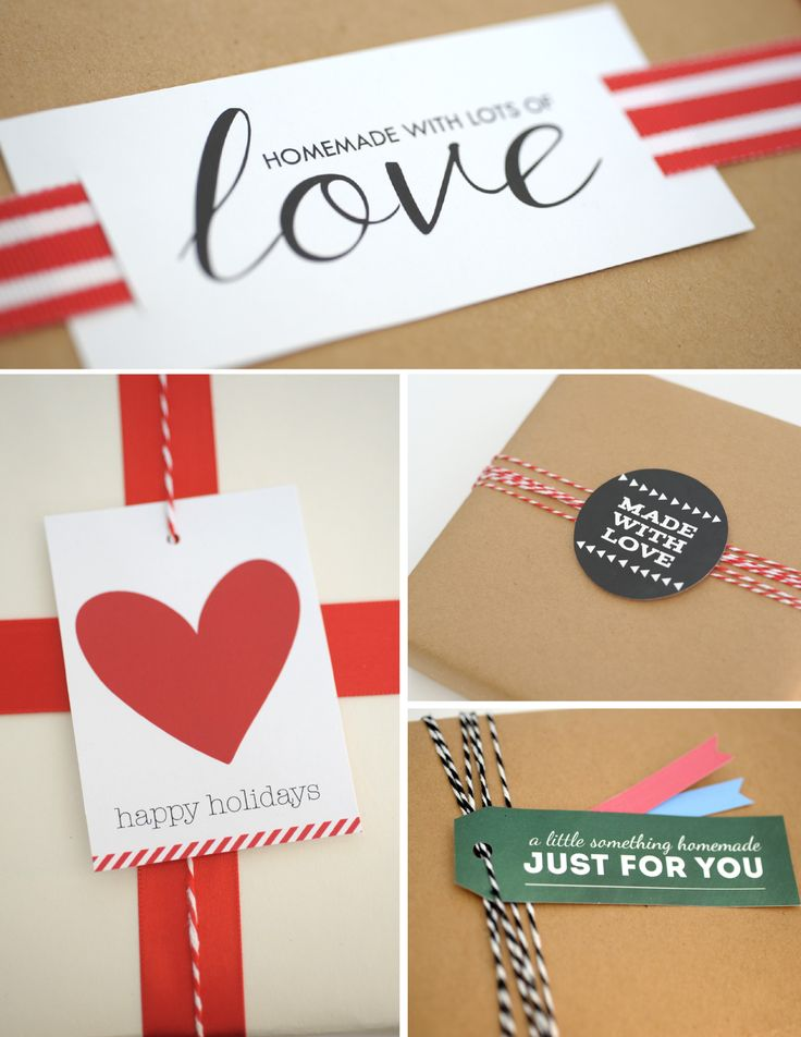 Free Printable - Handmade With Love Gift Tags from aliceandlois.com