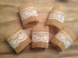 cute napkin holders for the china cabinet and instead of lace use the twine like on the mason jars