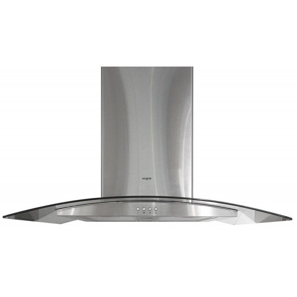 VOGUE Island Canopy Rangehood 900mm * Stainless Steel & Glass * Ceiling Mounted