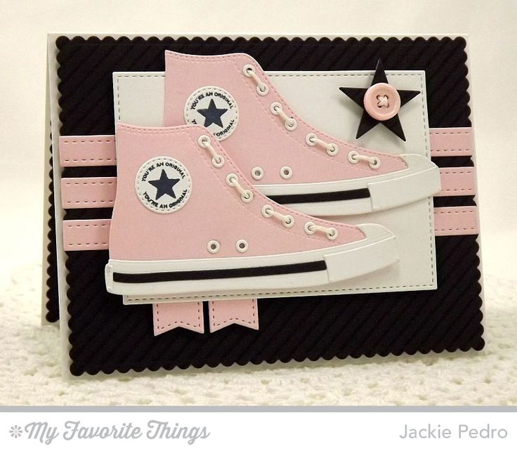 Be Original, Diagonal Stripes Background, All-Star High Top Die-namics, Blueprints 20 Die-namics, Stitched Rectangle STAX Die-namics - Jackie Pedro #mftstamps