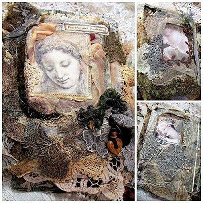 Peaceful & Pondering Fabric Lace Book - Suzy Quaife