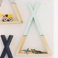 Bambooko houten XL tipi mint