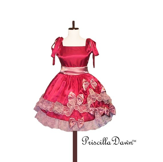 Custom in Your Size Pink Trimmed Alice Party by priscilladawn, $210.00