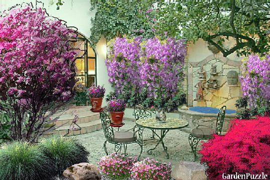 garden design tuscan courtyard spring garden pinterest