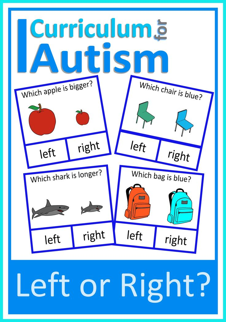 Left or Right Clip Cards Autism Speech Therapy — Curriculum For Autism
