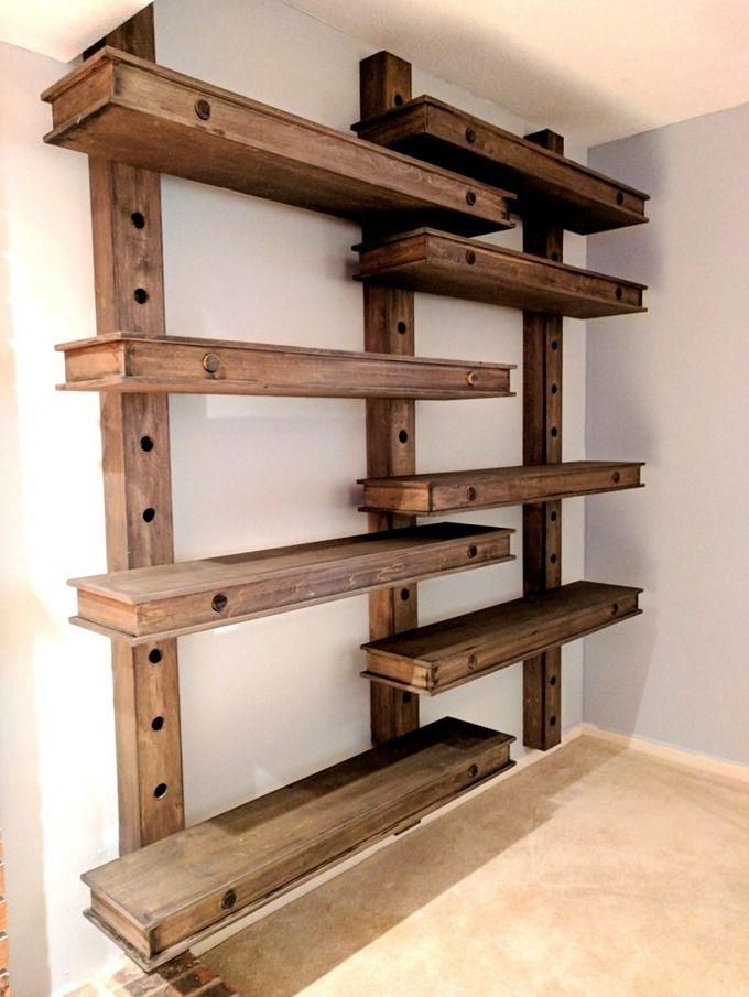 Over Sized Giant Pegboard Shelves That Are Adjustable Shelves Diy Furniture Rustic