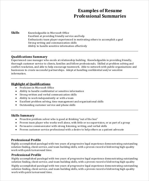 profile resume example professional pics photos examples - Example Profile For Resume