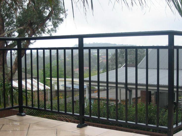 balustrade uses all powder coated aluminium for long lasting peace of