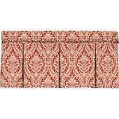 Wavelry Donnington Box Pleat Window Valance, Crimson (Red), Window Valances & Cornices, by Blissliving