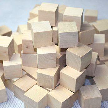 Деревянный Квадрат Куб Блок 2.5*2.5*2.5 см Для DIY Штамп Руководство Архитектурно-Строительная Модель детская Игрушка Щепа