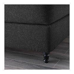 IKEA - VALLAVIK, Kontinentalseng, Hyllestad/Tustna grå, 180x200 cm, Brattvåg, , En kontinentalseng, hvor alle detaljer tæller. Med de omhyggeligt placerede betrukne knapper og betrækket af uld er denne seng perfekt til at stå midt i ethvert soveværelseEt lag memoryskum i topmadrassen former sig efter kroppens konturer og afhjælper tryk, så du kan slappe helt af.Et lag latex i madrassen former sig efter kroppens konturer og afhjælper tryk, så du kan slappe helt af.Individuelt svøbte…