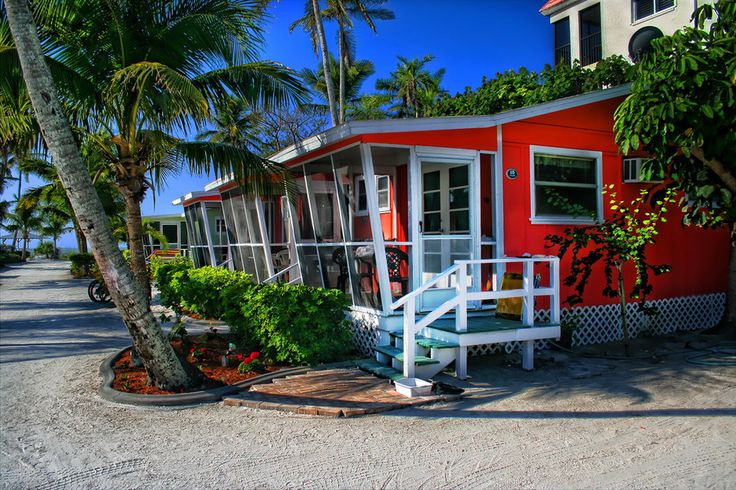 beach cottages on Sanibel Island, Florida; photo by Charles Curtis