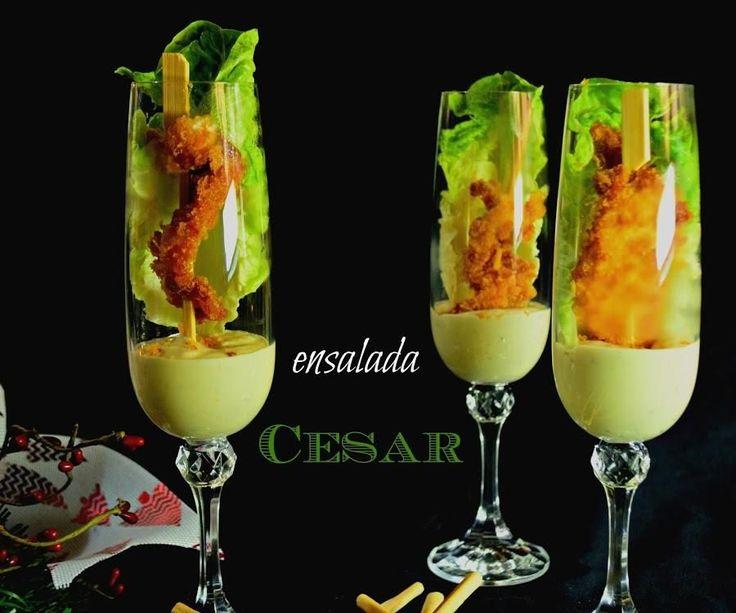 Interpretación de ensalada césar perfecta para un brunch o como entrante