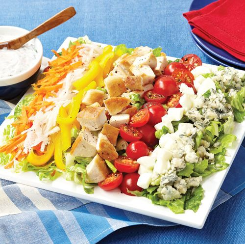 Red, White and Blue Cobb Salad