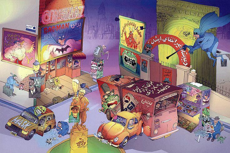 my cartoon-city & election