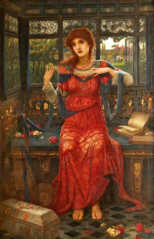 The Athenaeum - STRUDWICK, John Melhuish British Pre-Raphaelite (1849-1935)_Oh, swallow, swallow- 1894