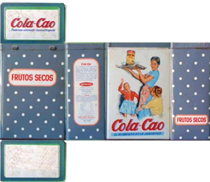 Lata de Cola Cao antigua para imprimir   -   Vintage tin Cola Cao Print                                                                                                                                                     Más