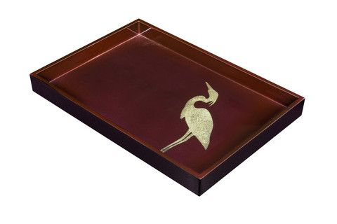 Heron pattern vide poche in Marsala colour. #marsala