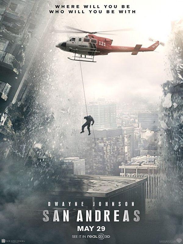 Um filme de Brad Peyton com Dwayne Johnson, Alexandra Daddario : Um terremoto atinge a Califórnia e um piloto de helicópetro terá que percorrer o estado para resgatar a sua filha.Classificação indicativa: a definir porhttp://www.culturad...