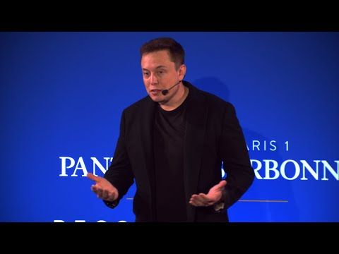 Elon Musk talks Climate Change and Carbon Tax at the Sorbone (12.2.15) - YouTube