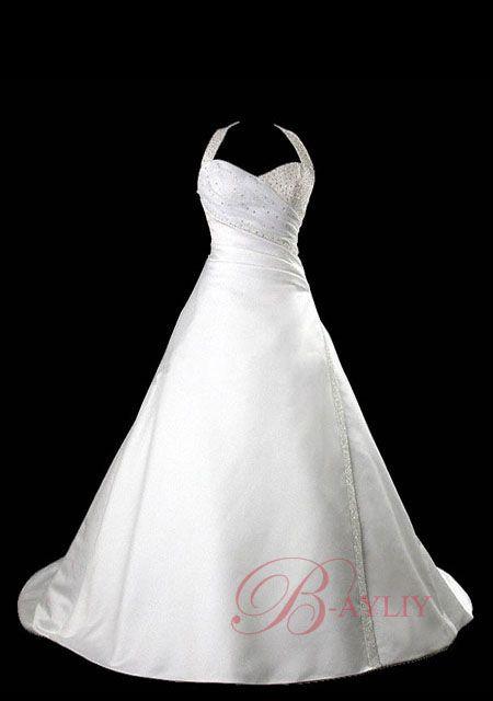 Halter neck wedding dress - I love this very flattering