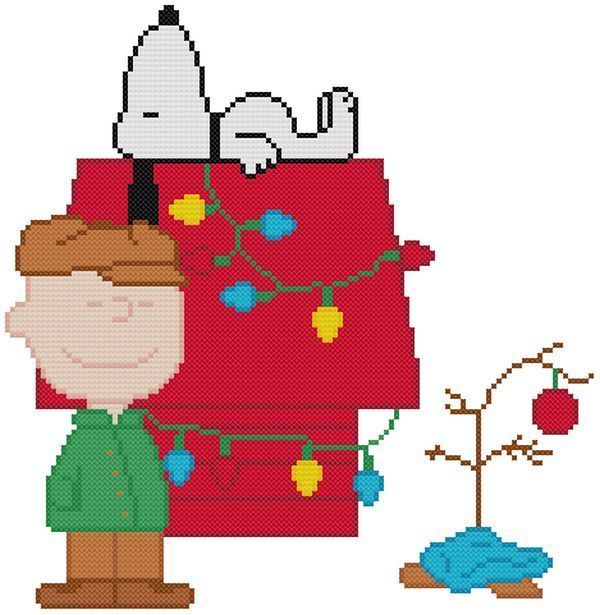 This Is Snoopy Laying On His House Partly Decorated With Lights