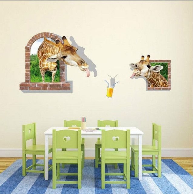 3D Wall Stickers Giraffe Individuality Creative Wall Stickers For Kids Part 95