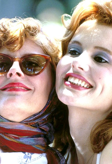 Susan Sarandon and Geena Davis in Thelma and Louise, 1991