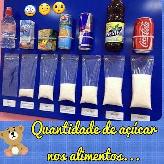 ⤵Você já parou para pensar sobre qual a quantidade de açúcar nos #alimentos que as crianças consomem no #lanche #escolar ? ⤵Em alguns casos, é difícil acreditarmos em algo que não vemos, por isso, acho ótimo utilizar imagens, que servem como uma verdadeira terapia de choque... Eu fiquei chocada com essa foto!!! ⤵Segundo a Organização Mundial da Saúde recomendam-se apenas 5% do total de calorias ingeridas venha do açúcar. Ou seja, um adulto com uma dieta de 2.000 calorias diárias, ...