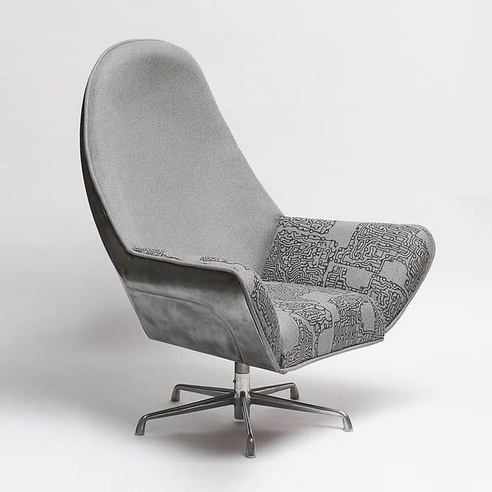 Beetle Club Chair: upcycled VW bonnet by The Rag and Bone Man – upcycleDZINE