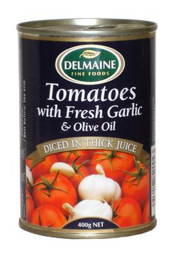 Delmaine Tomatoes with Fresh Garlic & Olive Oil