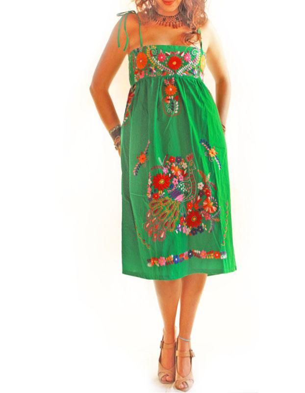 Handmade Mexican embroidered dresses and vintage treasures from Aida Coronado Mexican embroidered dress A heart in every piece
