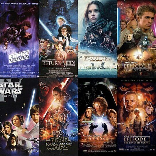 Cual De Todas Las Entregas De Star Wars Es Tu Favorita?#darthvader #theforceawakens #stormtrooper #disney #jedi #sith #love #lego #starwarsfan #yoda #art #r2d2 #marvel #hansolo #bobafett #lukeskywalker #geek #forcefriday #cosplay #darkside #chewbacca #nerd #lightsaber #toys #theforce #instagood #kyloren #fashion #batman #c3po